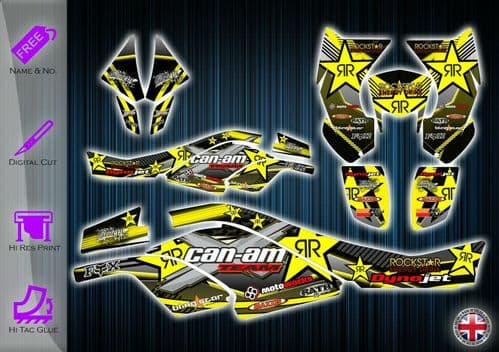 CAN AM DS450 STICKERS - GRAPHICS KIT - DECALS CANAM DS 450 ATV GRAPHICS KIT - 254912251529